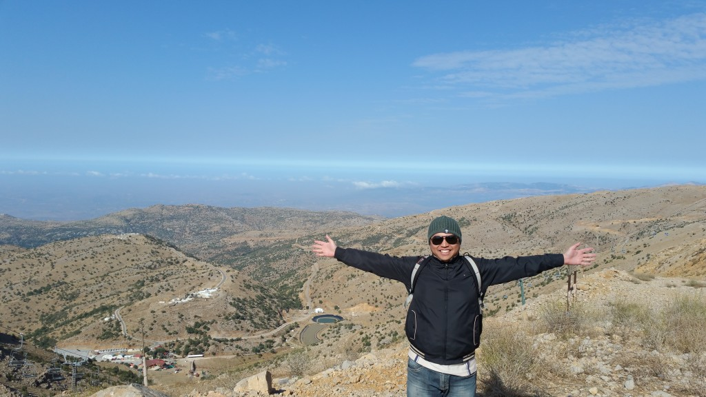 Me at Mt. Hermon, Israel.