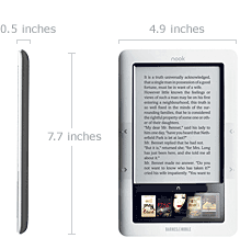 Nook - Barnes and Noble's eBook Reader Tech Specs