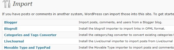 Wordpress Blog Importer Tool