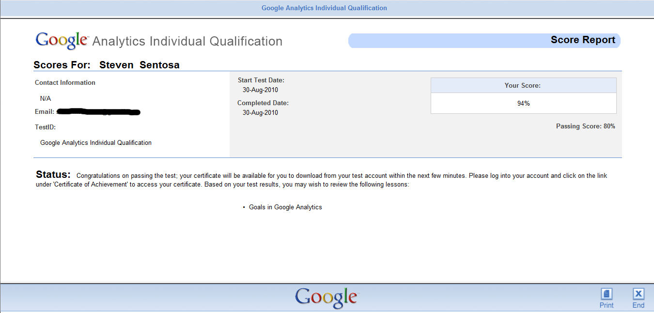 Google Analytics Individual Qualification Exam Tips And Guide My